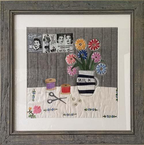 Sewing. Textile 46cm x 46cm