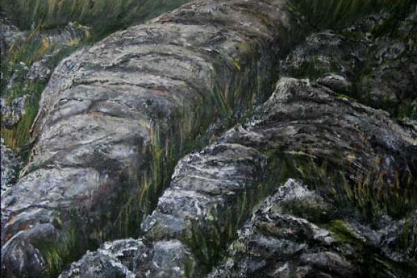 Heugh scar hill by Take 13 artist Janet Glazier