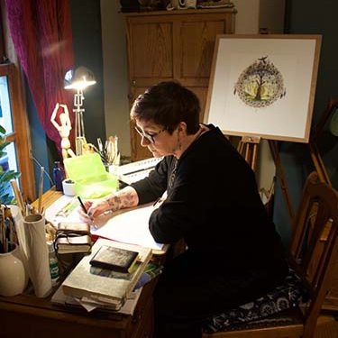 Image of Marie in her studio