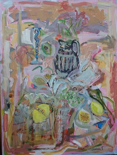 'Still life with Lemons' Acrylic 63 x 83cm