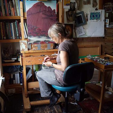 Image of Elsa in her studio