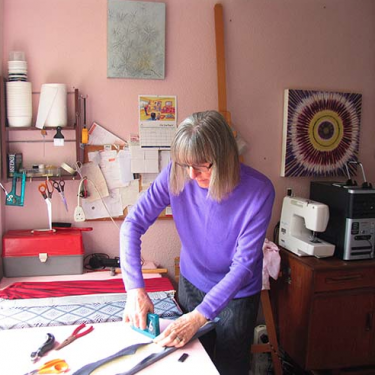 Image of Helen in her studio