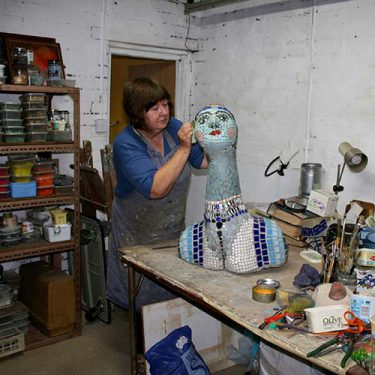 Image of Ilona in her studio