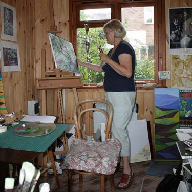 Image of Janet in her studio