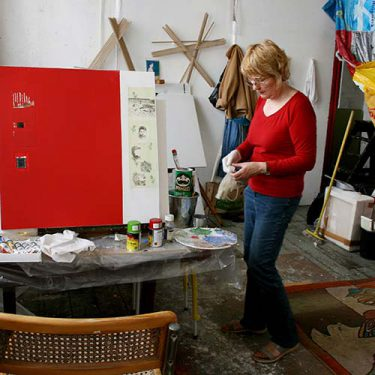 Image of Judy in her studio