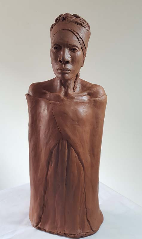 Clay Figure Sculpture by Take 13 artist Georgia Belfont