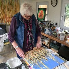 Image of Take 13 artist Maggie Holmes in her studio