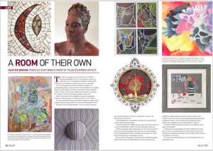 Select magazine open, showing Take13 article